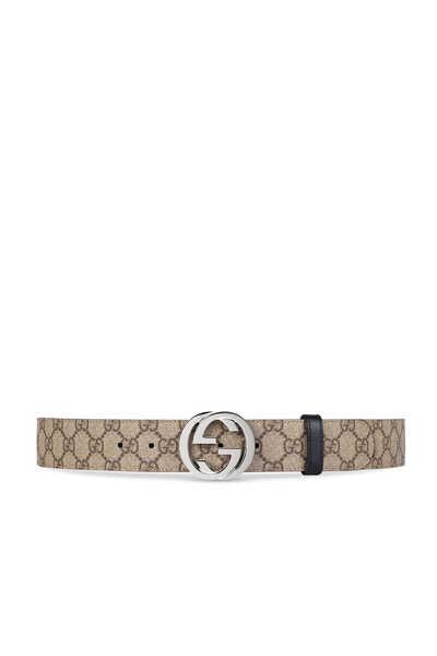 حزام سوبريم بشعار حرفي GG وتصميم بوجهين