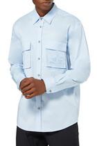 قميص مطرز بشعار الماركة