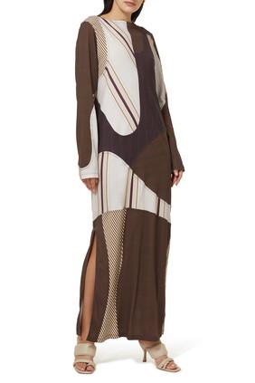 فستان طويل جيرسيه