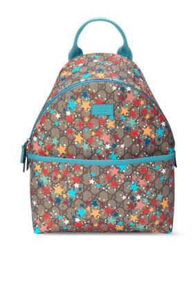 حقيبة ظهر بنقشة نجوم وشعار GG