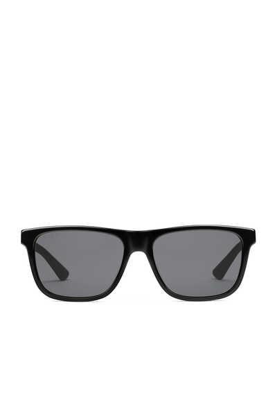 نظارة شمسية بإطار مستطيل من أسيتات ومعدن