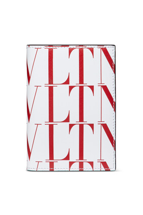 حافظة بطاقات فالنتينو غارافاني بشعار VLTN بنقشة تايمز