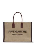 حقيبة يد مطبوعة باسم مجموعة Rive Gauche