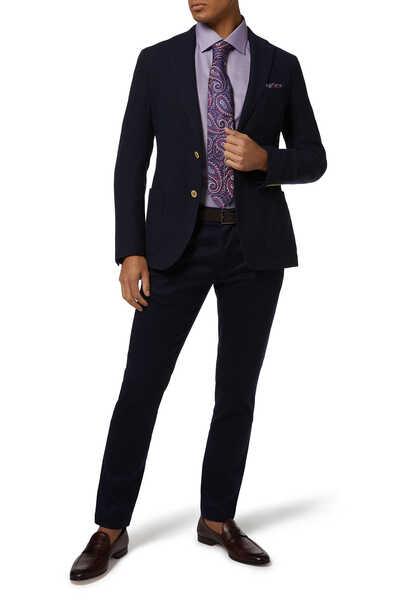 ربطة عنق بنقشة بيزلي كبيرة