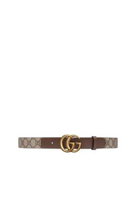 حزام جلد بإبزيم بحرفي G