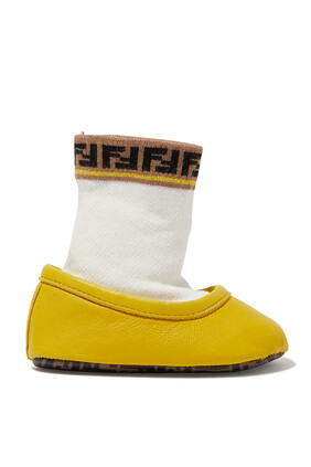 حذاء باليرينا بجورب