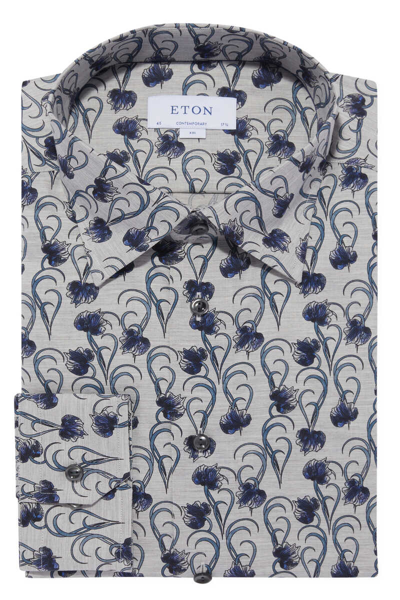 قميص فلانيل بنقشة زهور image number 1