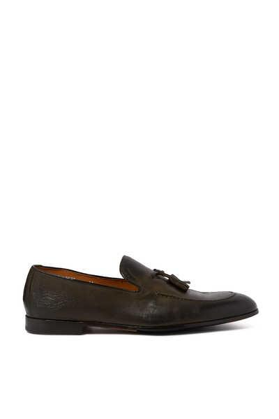 حذاء سهل الارتداء جلد بشرابات