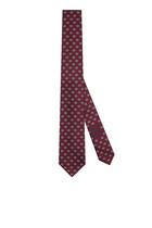 ربطة عنق حرير بنقشة حرفي GG متداخلين ونقاط