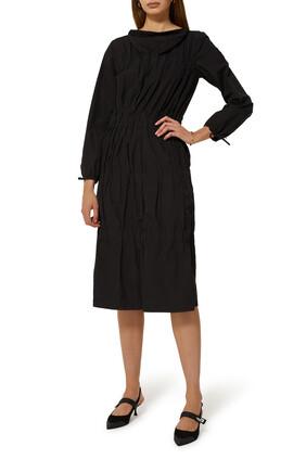 فستان بطبقات كشكش بوبلين