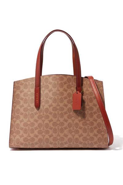 حقيبة يد تشارلي قنب بشعار الماركة كوتش × سيلينا غوميز