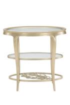 طاولة جانبية بنقشة زهرة برية