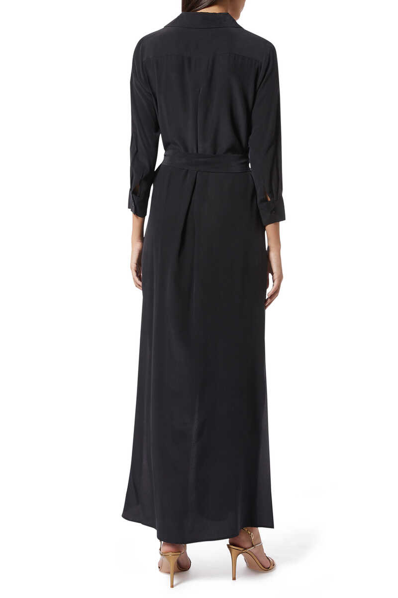 فستان كاميرون طويل بنمط قميص image number 3