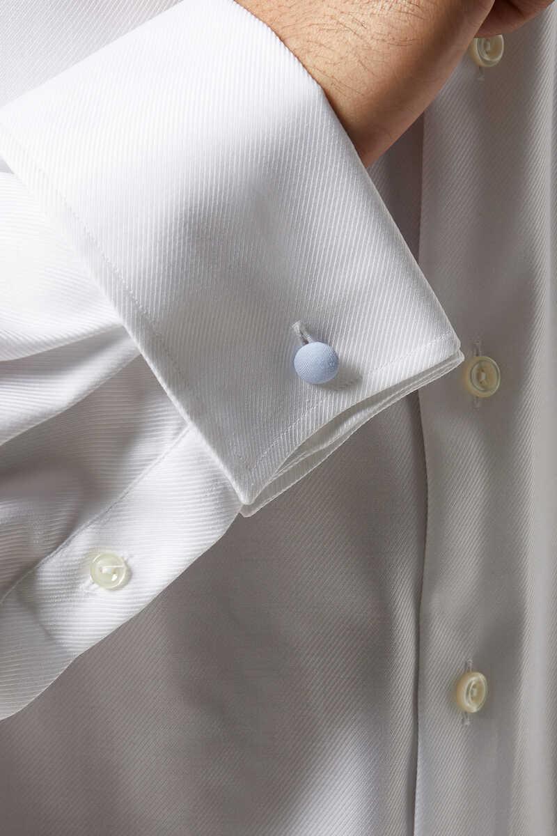قميص تويل بارز الملمس بقصة عصرية image number 3