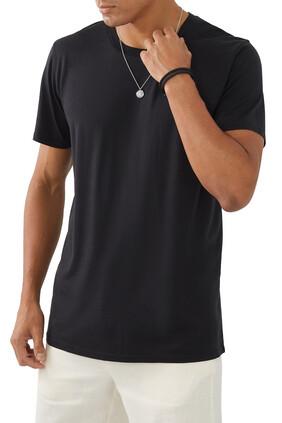 3-pack Crew Neck T-Shirt:Black:S