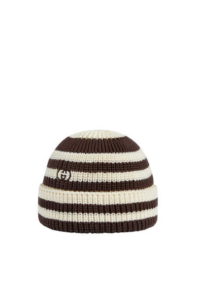 قبعة منسوجة مخططة