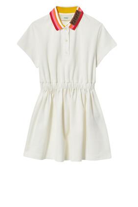 فستان بياقة مخططة