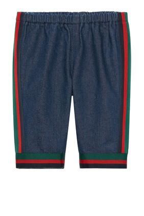 بنطال جينز بخطوط الماركة المميزة