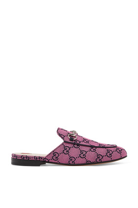 حذاء برينستاون مفتوح بنقشة شعار GG