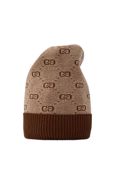 قبعة قطن وصوف بنقشة حرفي GG