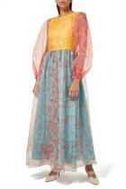 فستان فيولا بنقشة زهور
