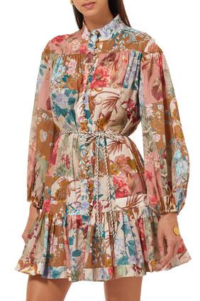 فستان كاسيا قصير بخصر منخفض