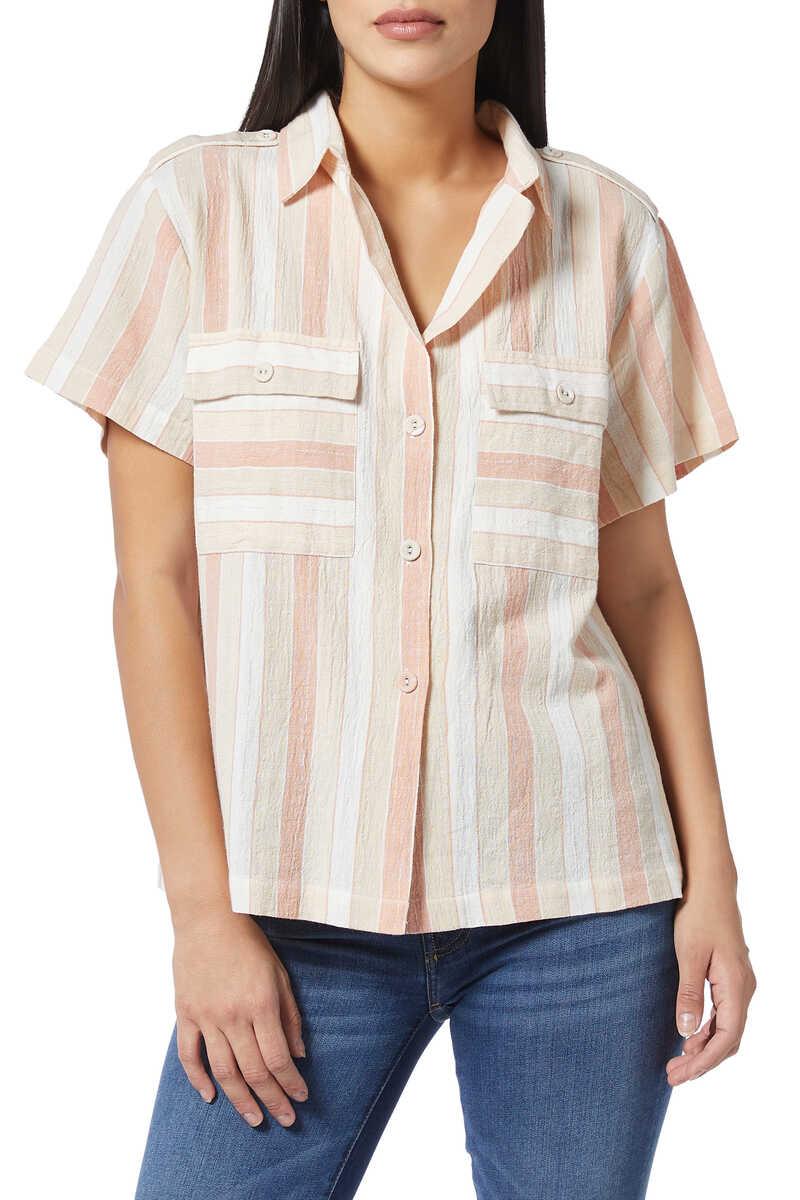 قميص يومي لوركس مخطط image number 1
