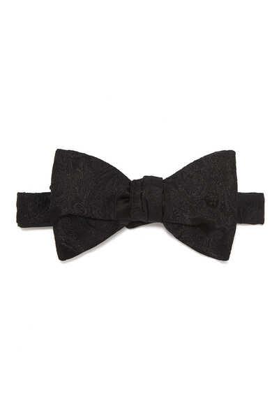 ربطة عنق فراشة حرير جاكار
