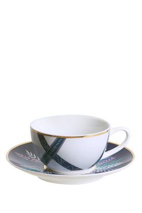 طقم فناجين وأطباق شاي تالا، قطعتان