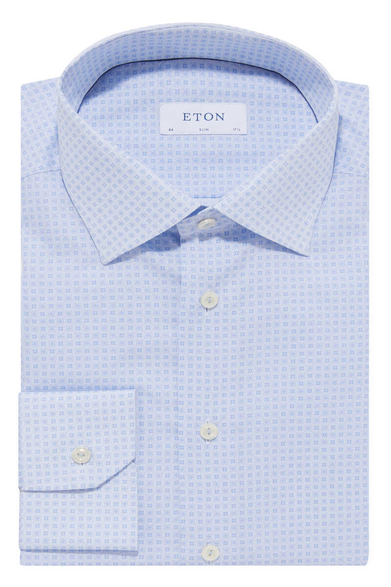 قميص بوبلين بنقشة زخارف image number 1