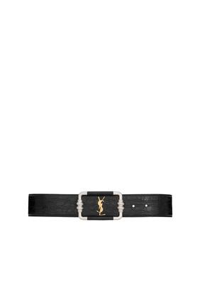 حزام كلاسيكي بشعار الماركة