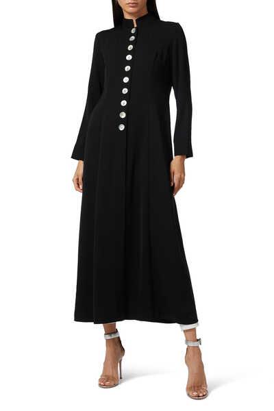 عباية بنمط معطف وأزرار في الأمام