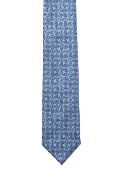 ربطة عنق بنقشة أشكال هندسية بيضاوية