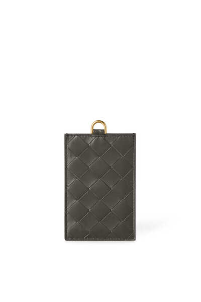 PASSPORT CASE INTRECCIATO NAPPA LEATHER:Dark Grey:One Size