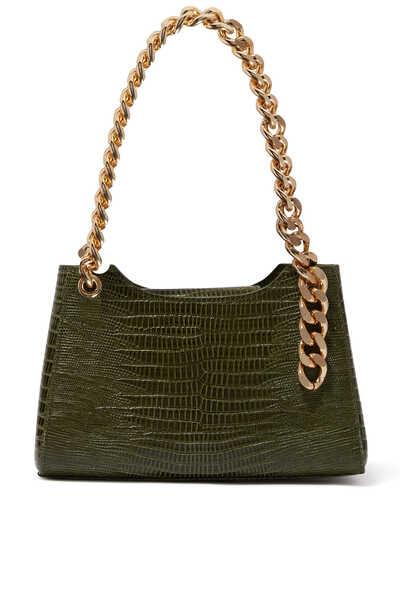 حقيبة ليزا ميني بنقشة جلد التمساح