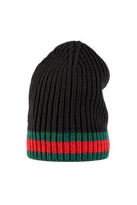 قبعة بيني صوف منسوج