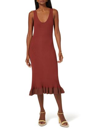 فستان مارجورام منسوج