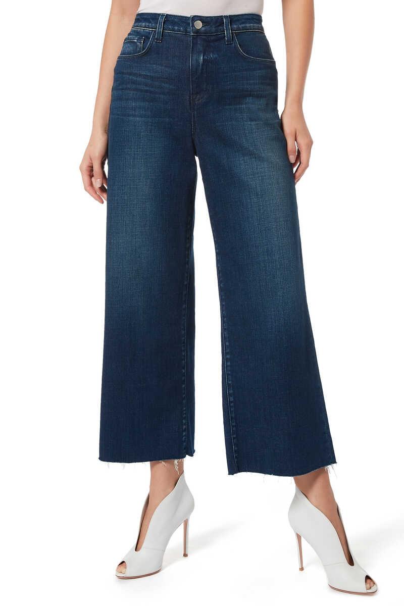 بنطال جينز دينم دانيكا بساقين واسعتين image number 1