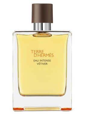 Terre d'Hermès Eau Intense Vétiver، ماء عطر، بخاخ للسفر سعة 30 مل وعبوة بديلة سعة 125 مل