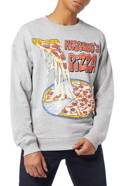 سويت شيرت بطبعة بيتزا