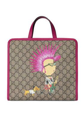 حقيبة يد بطبعة بانك وشعار حرفي GG
