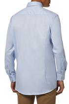 قميص تويل مميز للماركة بقصة ضيقة