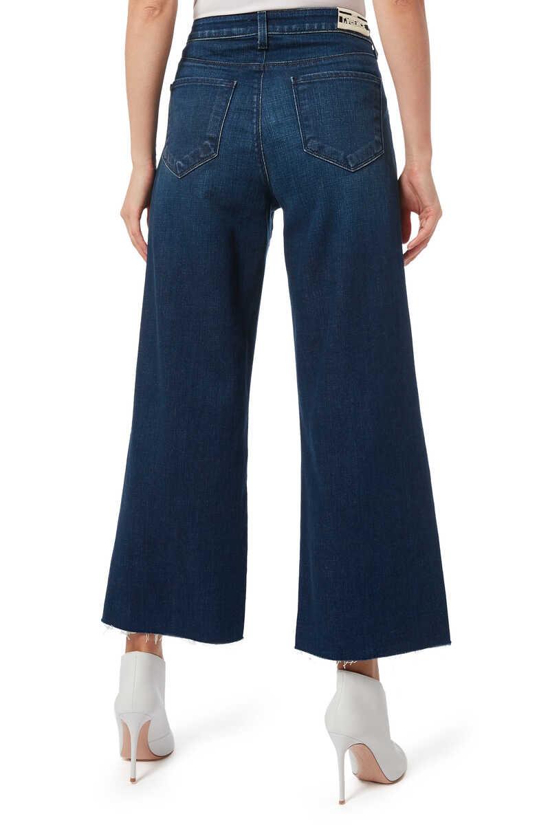 بنطال جينز دينم دانيكا بساقين واسعتين image number 3