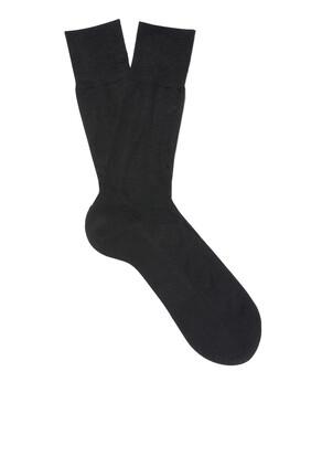 جوارب حرير أسود