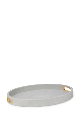 AE Modern Shagreen Cocktail Tray Dove:Multi Colour:One Size