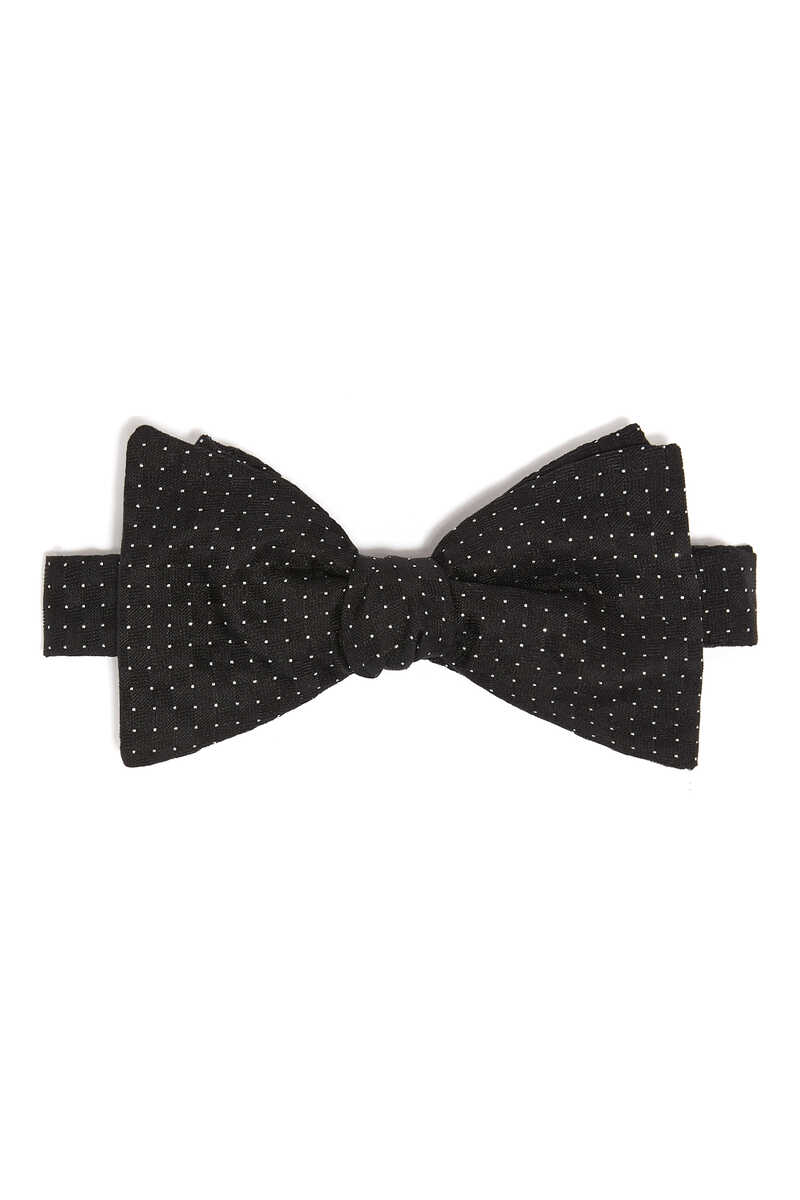 ربطة عنق فراشة مزينة بنقط لامعة image number 1