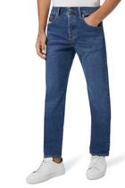 بنطال جينز مهتري بقصة ساق مستقيمة