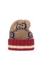 قبعة بيني قطن بنقشة حرفي GG