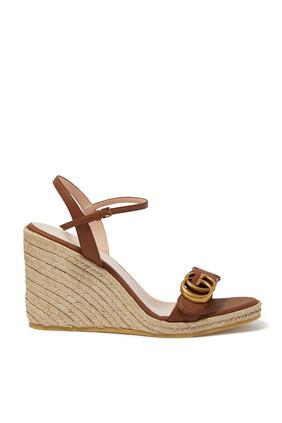 حذاء إسبادريل جلد بنعل سميك
