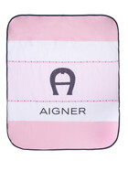 بطانية مبطنة بطبعة شعار الماركة